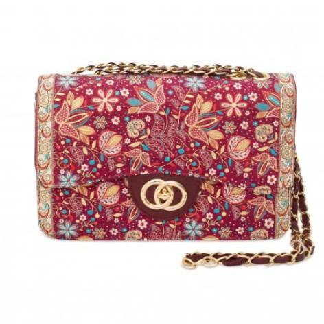 イスラム柄2Way Bag<br>Elegant Flower Red
