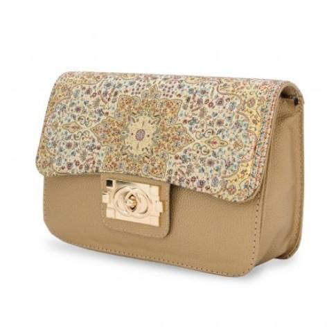 イスラム柄 Chain Bag<br>Square(M) Gold Beige