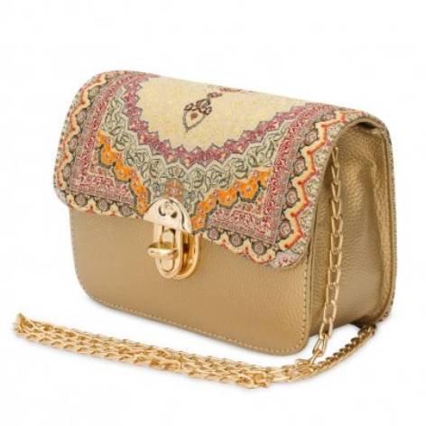 イスラム柄Chain Bag<br>Gold×Orange