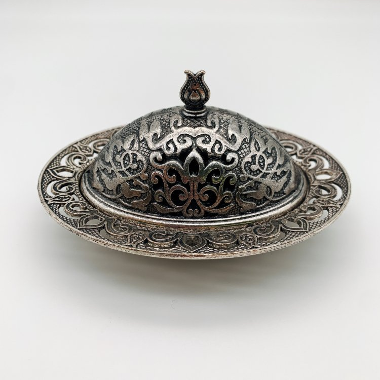 シュガーケース<br>Antique Silver