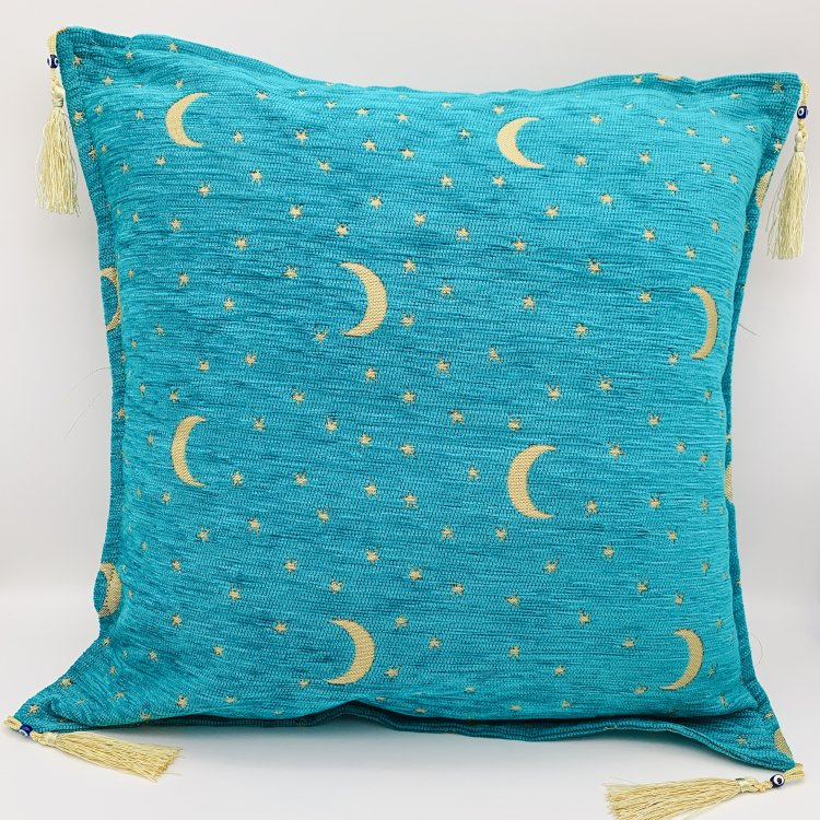 Cushion cover クッションカバー<br>Turquoise Blue