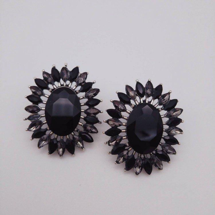 ピアス<br>Flower Black