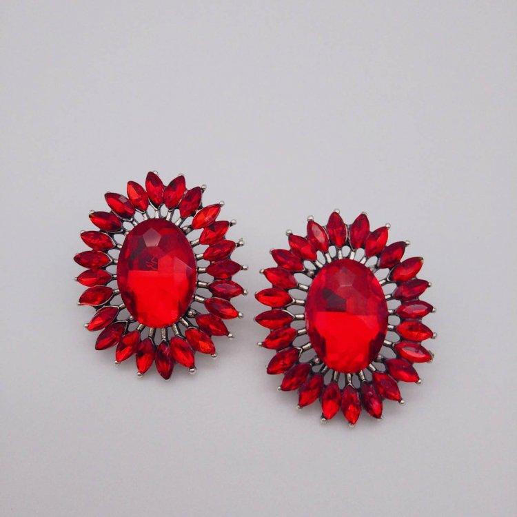 ピアス<br>Flower Red