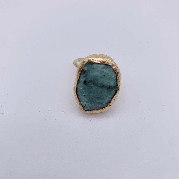 トルコ 天然石リング<br>Turquoise Blue