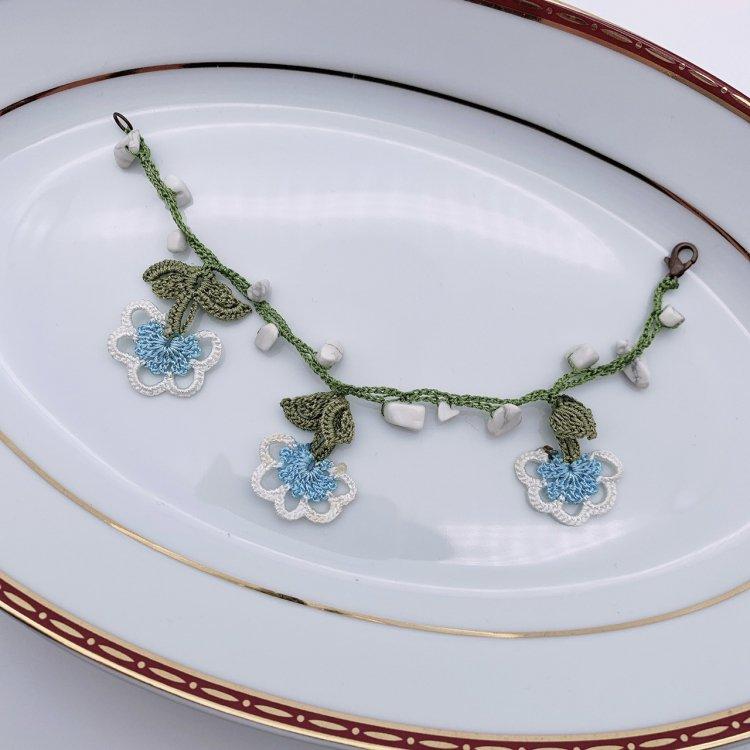 トルコ伝統手刺繍イーネオヤ・ブレスレット