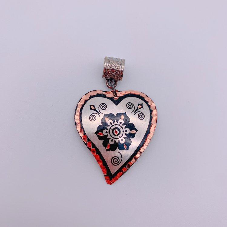 Copper ペンダントトップ<br>Heart Silver