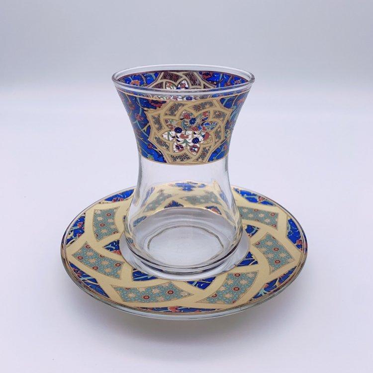 チャイグラス<br>Carnation Royal Blue(ハンドルなし)