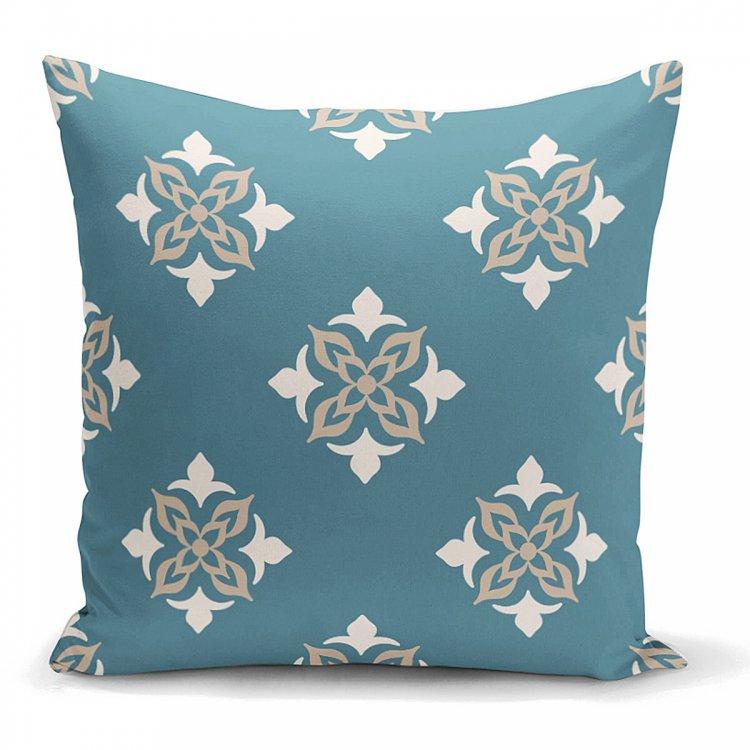 クッションカバー<br> Damask Blue green