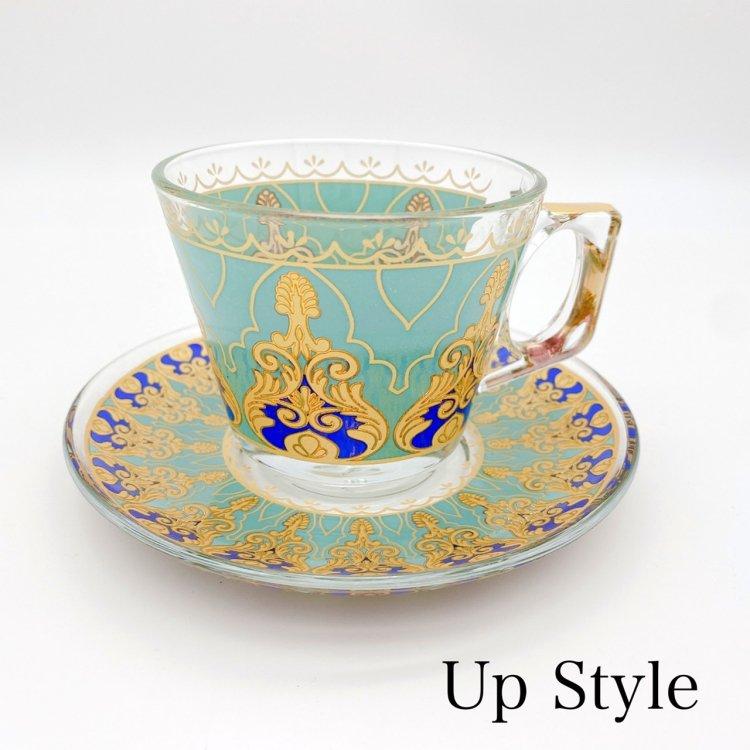 カップ&ソーサー(PASABAHCE)<br>Violin Turqoise Blue
