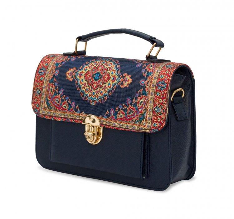イスラム柄 2way Bag<br>Pocket M Navy Red