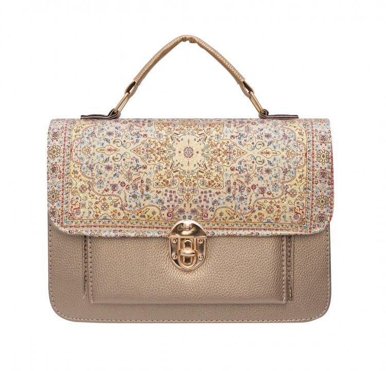 イスラム柄 2way Bag<br>Pocket M Gold Gold