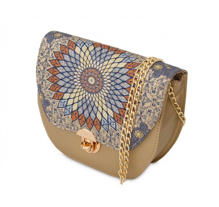 イスラム柄 2way Bag<br>Hexagon(S) Orange Gold