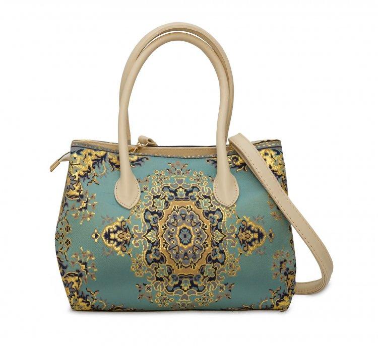 イスラム柄 Elegant Tote Bag<br>Turquoise Blue