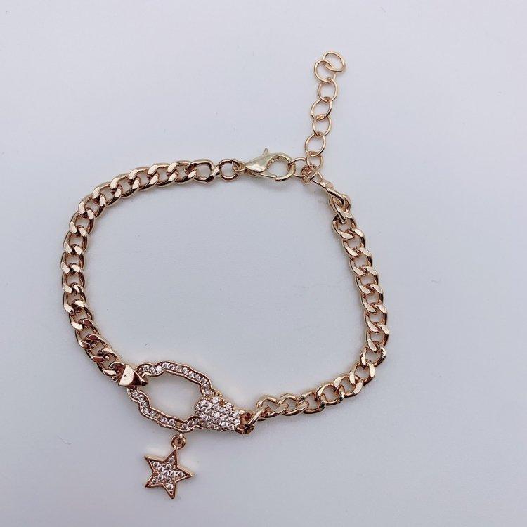 チェーンブレスレット<br>Star Gold