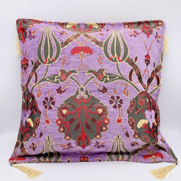 シェニール・クッションカバー<br>Tulip Purple