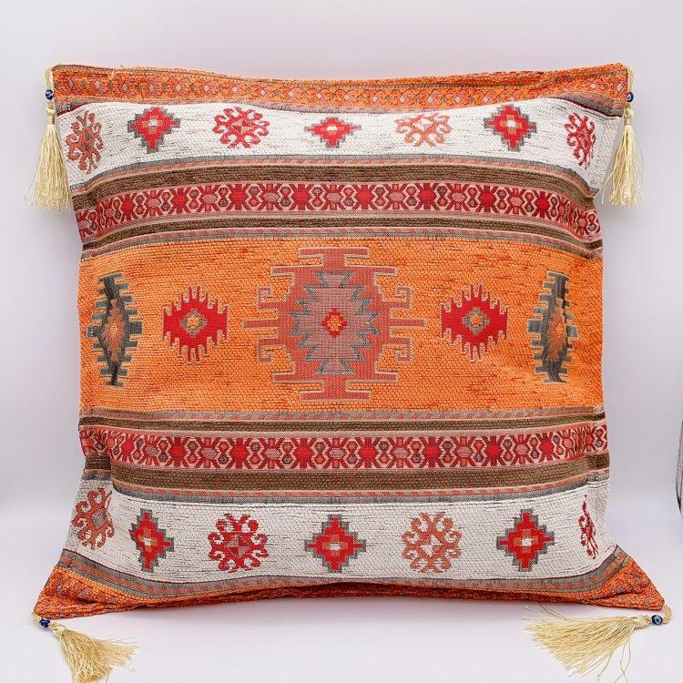 Cushion cover クッションカバー<br>Kilim Orange