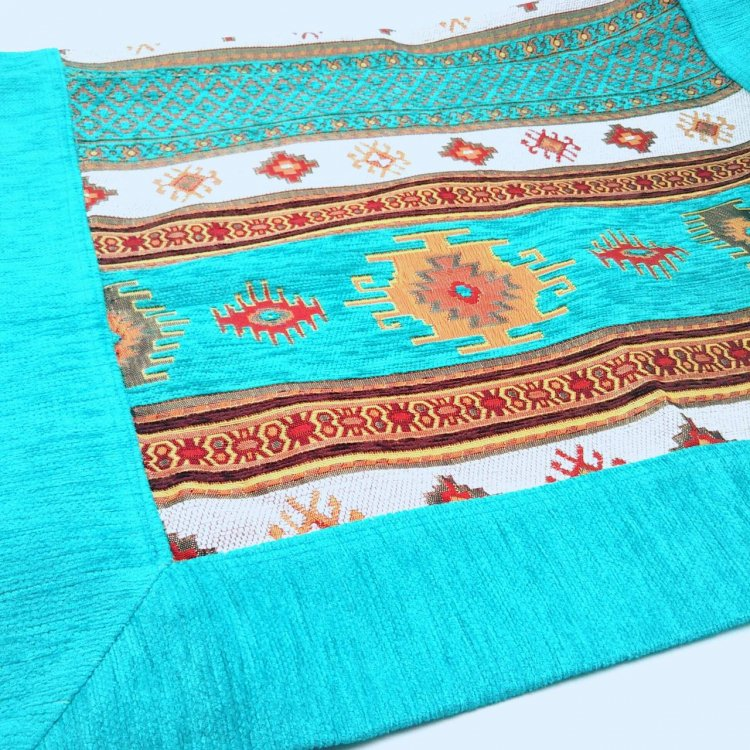 マルチカバー<br>Kilim Turquoise Blue(約60cm×約90cm)
