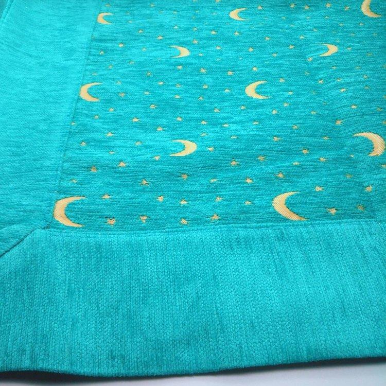 マルチカバー<br>Moon&Star  Turquoise Blue(約160�×約165�)