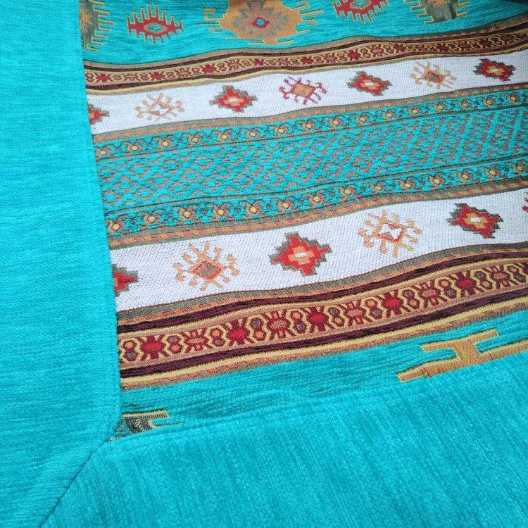 マルチカバー<br>Kilim Turquoise Blue(約160cm×約165cm)