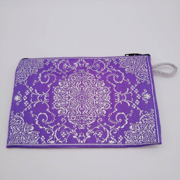ポーチ小 <br>Purple Silver