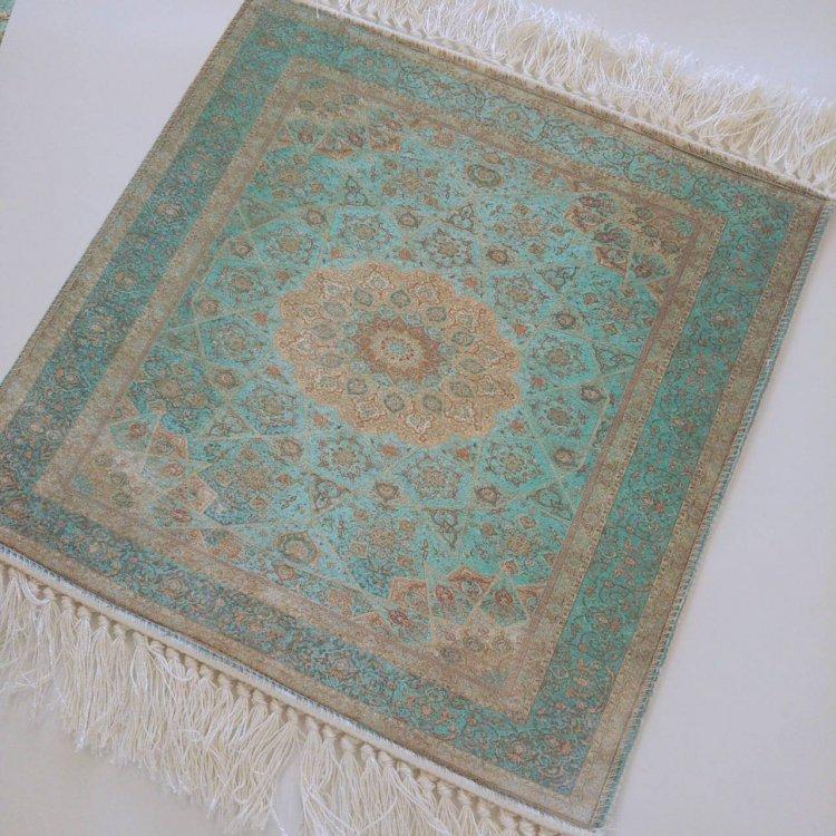 カーペット<br>Turquoise Blue(約40cm×約40cm)