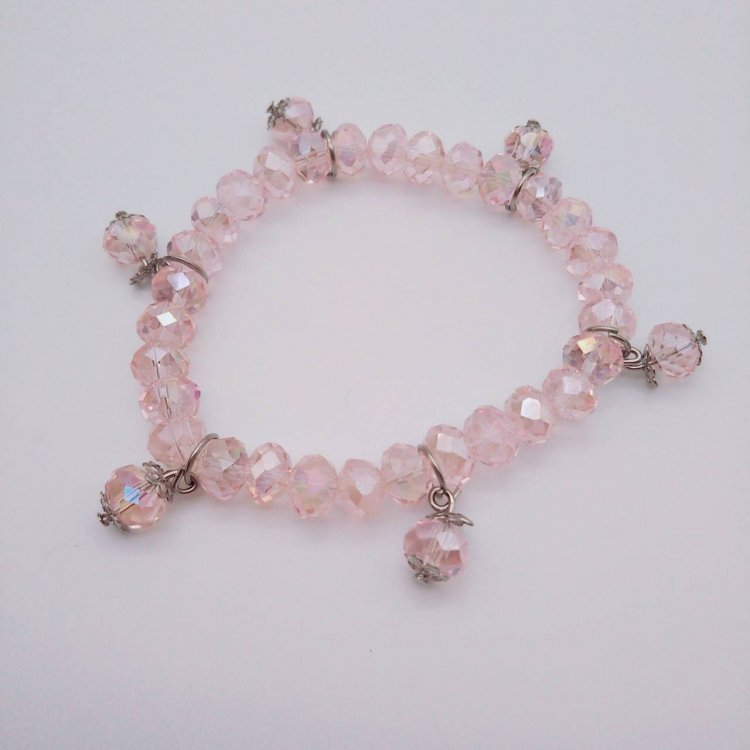 ブレスレット<br>Crystal Pink