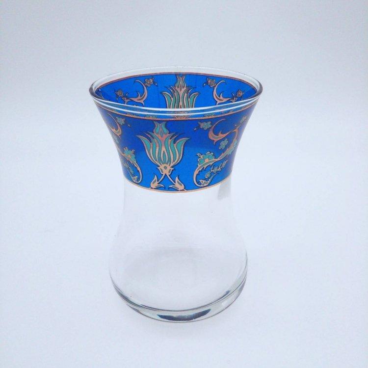 チャイグラス<br>Cup Tulip Royal Blue(ハンドルなし)