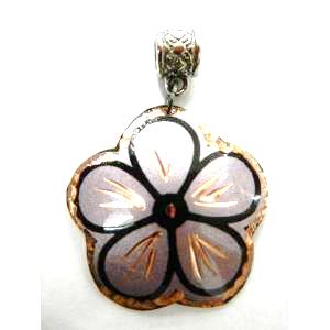 Copper ペンダントトップ<br>Flower Purple