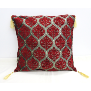Cushion cover クッションカバー_Peacock Red