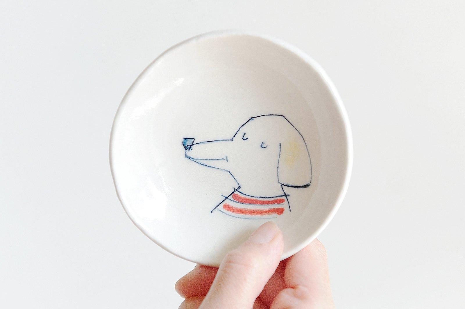 どうぶつ絵皿 - 犬