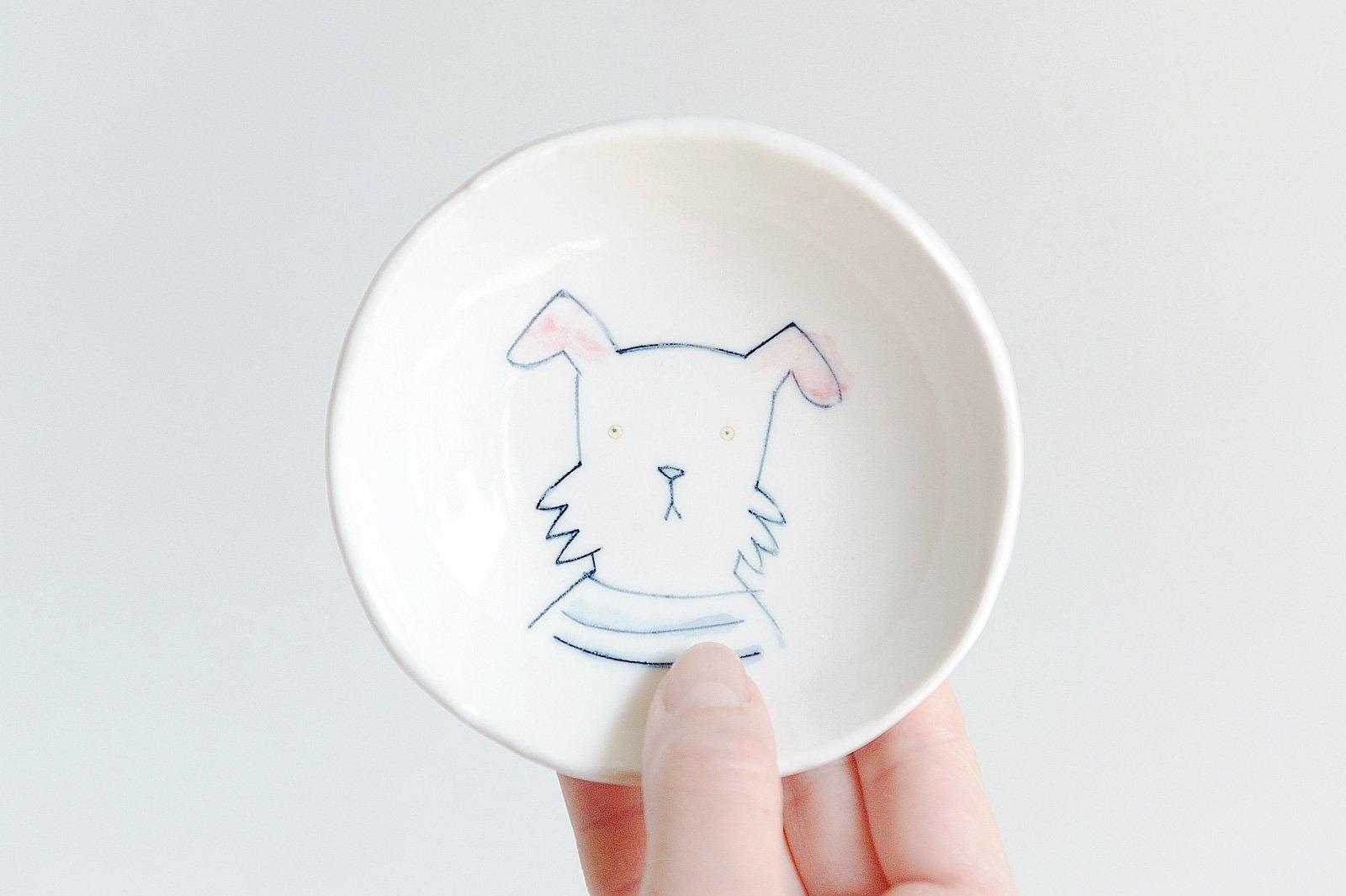 どうぶつ絵皿 犬 - テリア