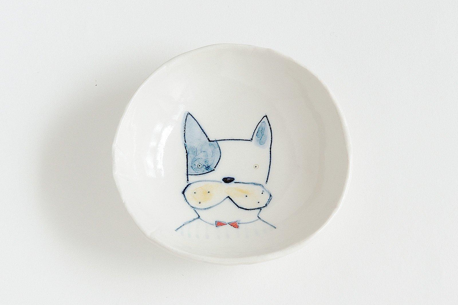 どうぶつ絵皿 犬 - フレンチブルドック