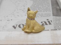 猫リングお座り<br>(K18YG/ダイヤモンド)