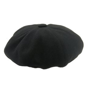 <img class='new_mark_img1' src='https://img.shop-pro.jp/img/new/icons1.gif' style='border:none;display:inline;margin:0px;padding:0px;width:auto;' />Original John - 8 PANELS BERET WOOL BLACK