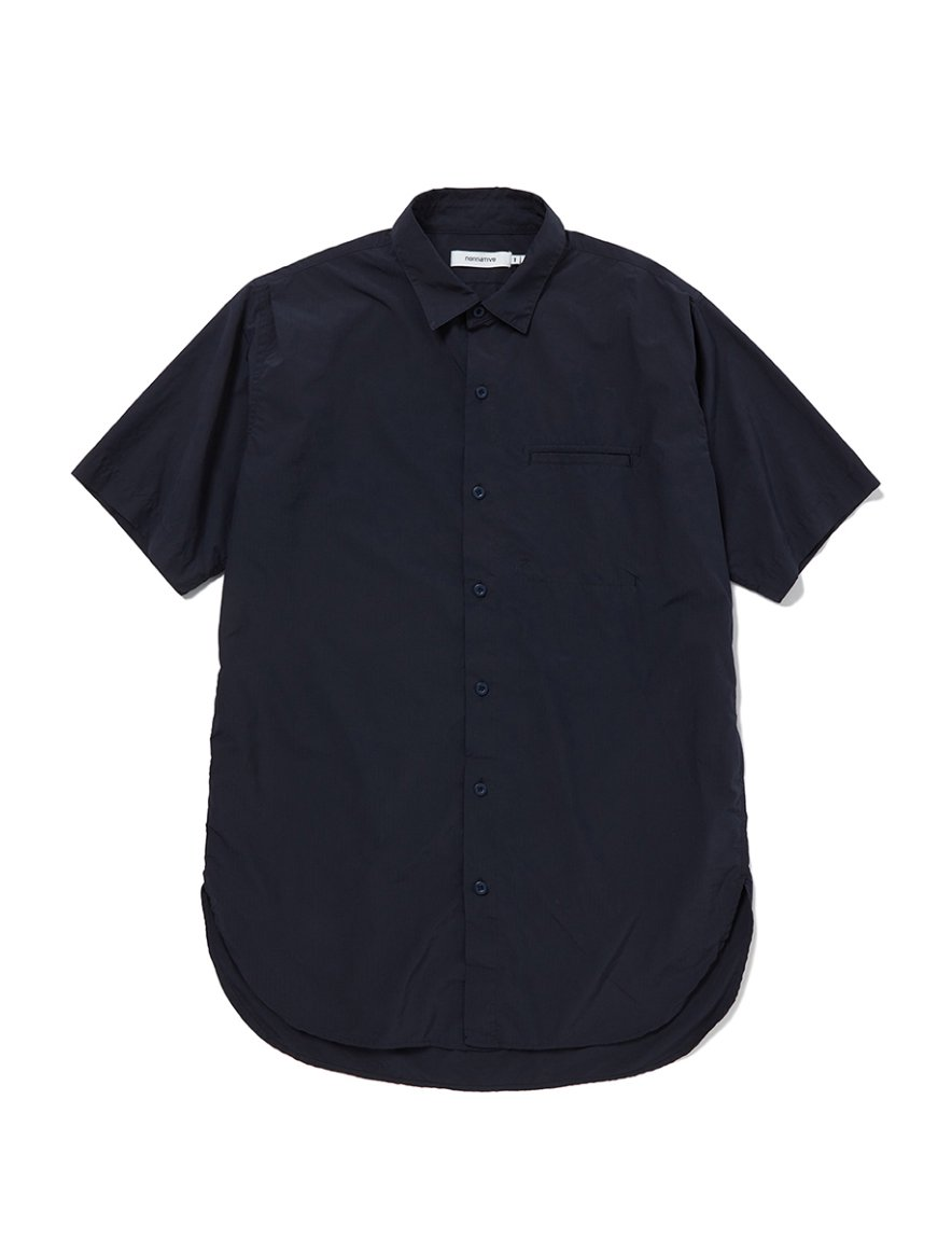 <img class='new_mark_img1' src='https://img.shop-pro.jp/img/new/icons1.gif' style='border:none;display:inline;margin:0px;padding:0px;width:auto;' />nonnative - FELLER LONG SHIRT S/S P/N RIPSTOP (NAVY)