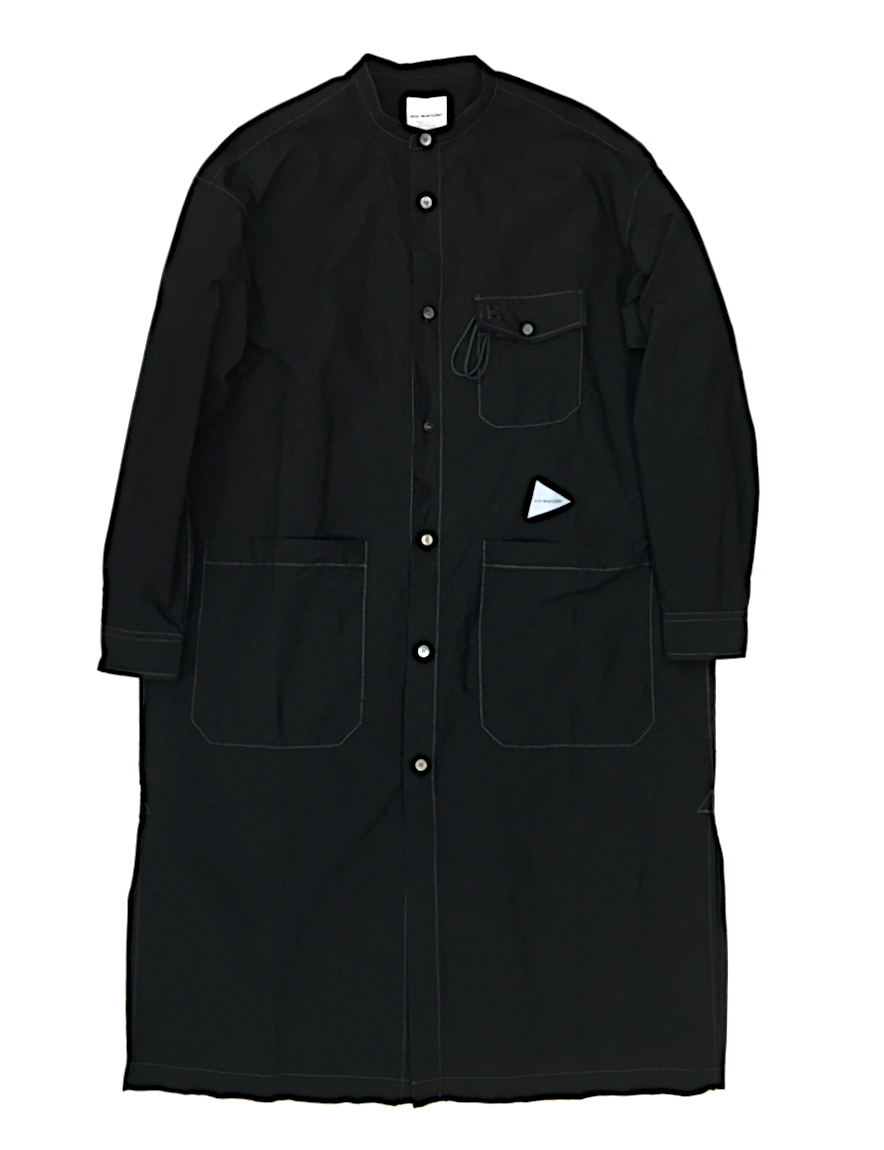 and wander - CORDURA typewriter long shirt (BLACK)