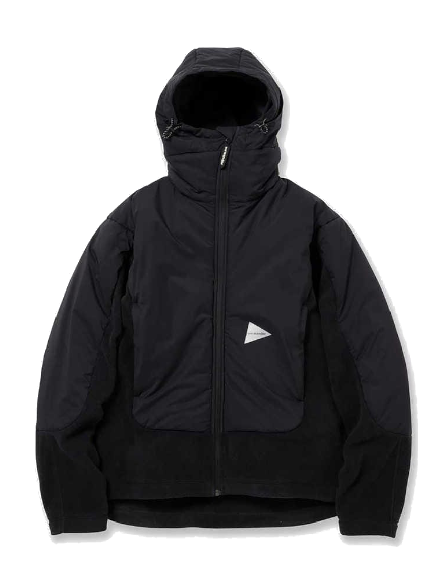 <img class='new_mark_img1' src='https://img.shop-pro.jp/img/new/icons50.gif' style='border:none;display:inline;margin:0px;padding:0px;width:auto;' />and wander - top fleece jacket (BLACK)