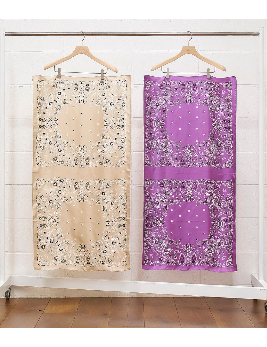<img class='new_mark_img1' src='https://img.shop-pro.jp/img/new/icons1.gif' style='border:none;display:inline;margin:0px;padding:0px;width:auto;' />UNUSED - paisley long bandana (silk)