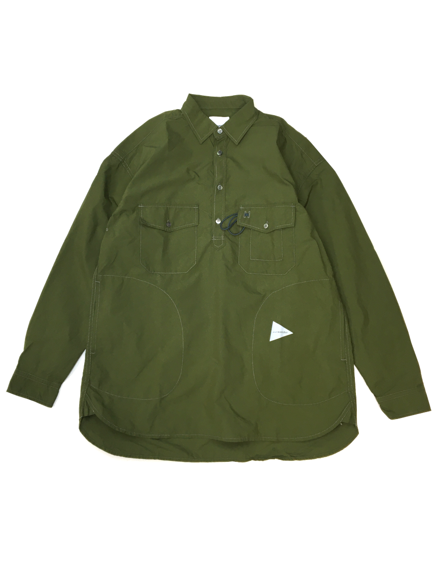 <img class='new_mark_img1' src='https://img.shop-pro.jp/img/new/icons1.gif' style='border:none;display:inline;margin:0px;padding:0px;width:auto;' />and wander - CORDURA typewriter long sleeve over shirt
