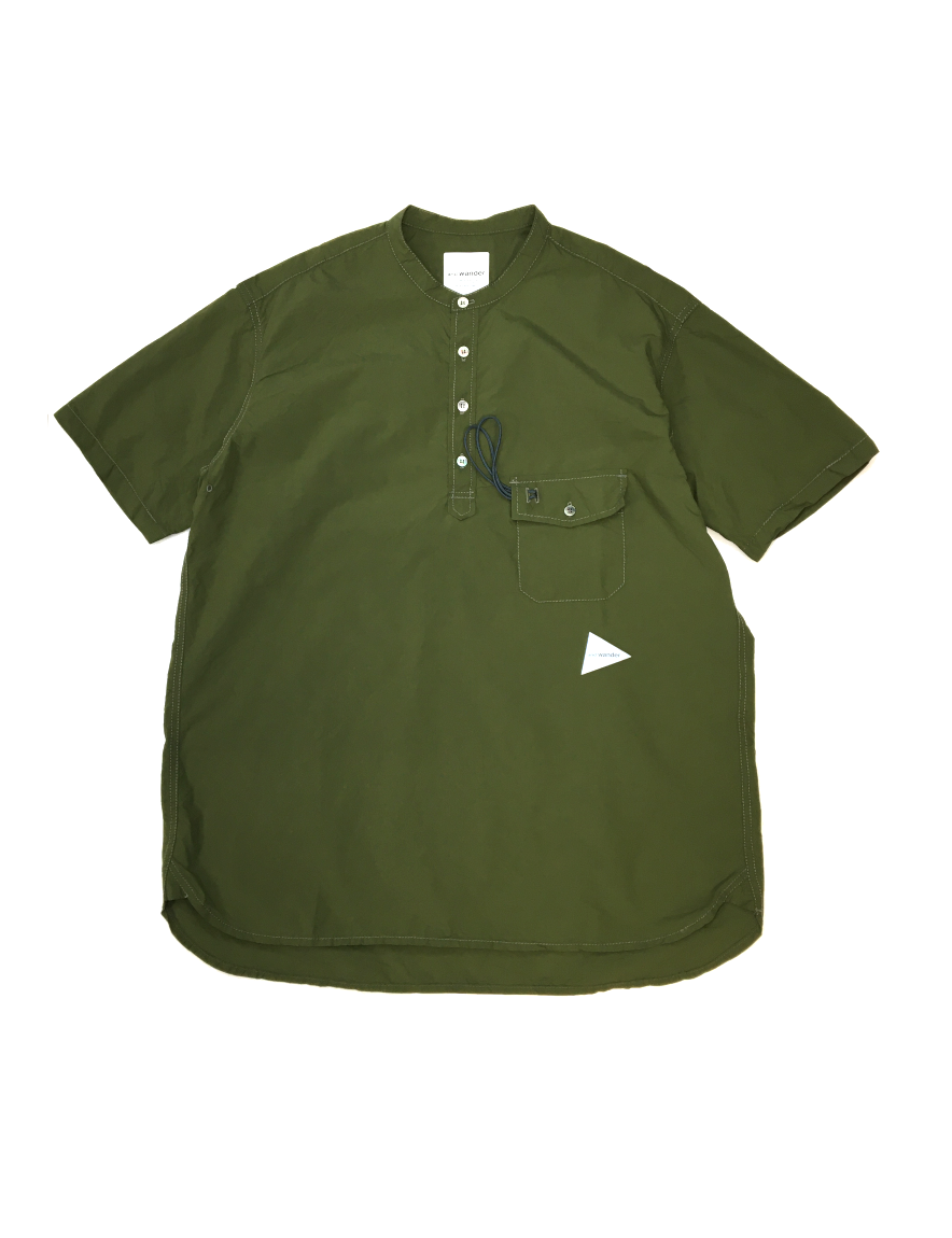 <img class='new_mark_img1' src='https://img.shop-pro.jp/img/new/icons1.gif' style='border:none;display:inline;margin:0px;padding:0px;width:auto;' />and wander - CORDURA typewriter short sleeve over shirt (khaki)