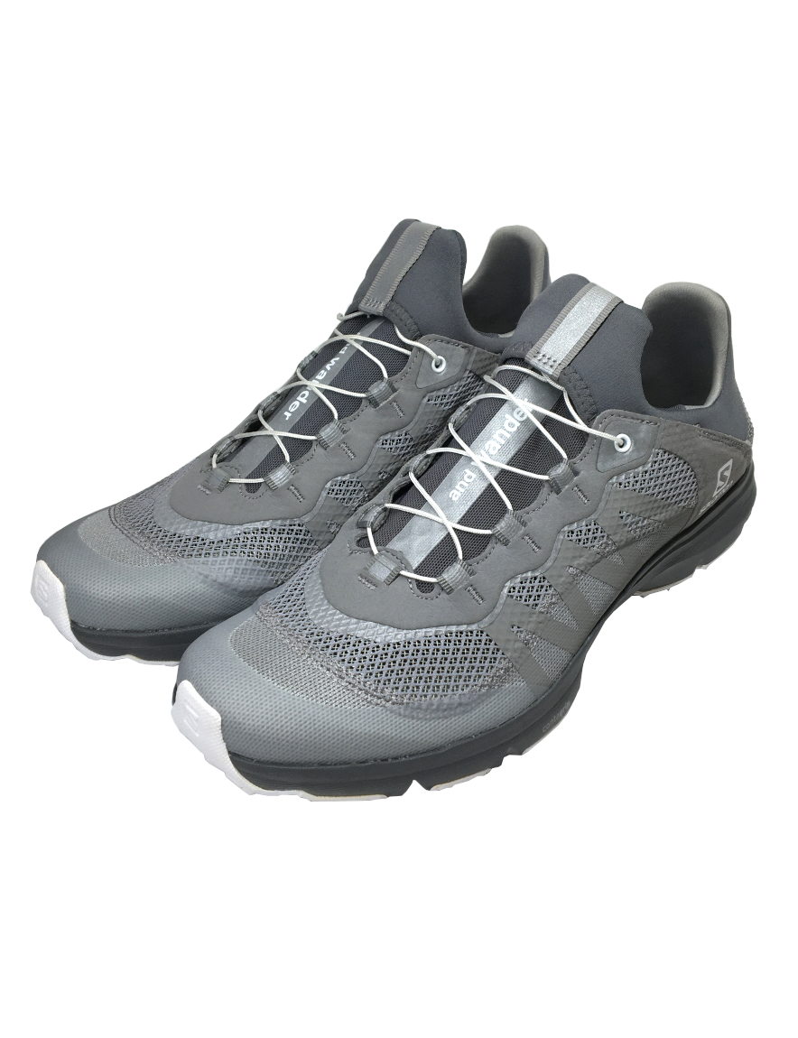 and wander - reflective mesh sneaker by salomon