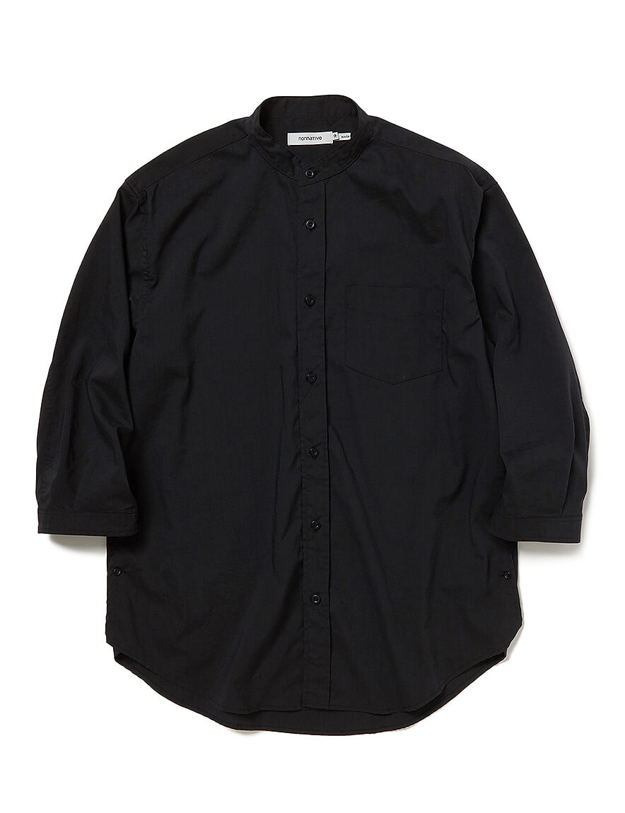 <img class='new_mark_img1' src='https://img.shop-pro.jp/img/new/icons1.gif' style='border:none;display:inline;margin:0px;padding:0px;width:auto;' />nonnative - OFFICER SHIRT Q/S RELAXED FIT P/L WEATHER STRETCH COOLMAX® (BLACK)