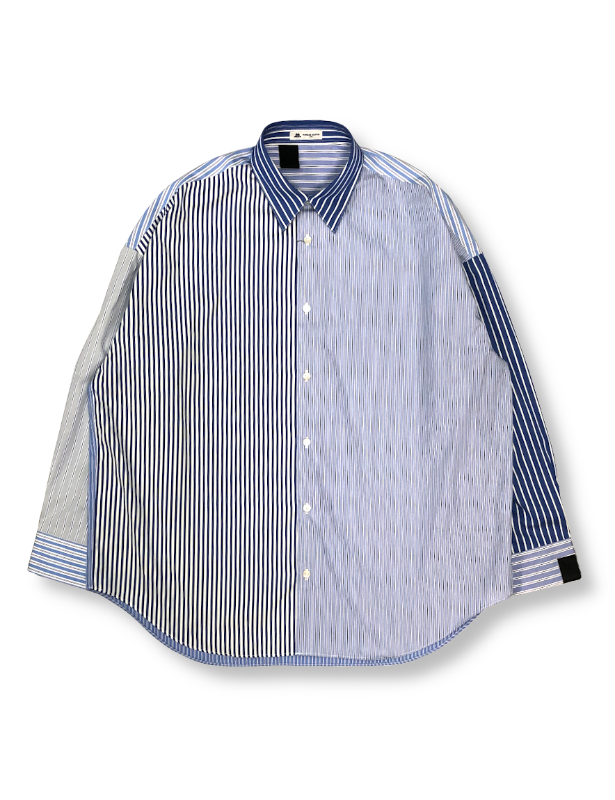 <img class='new_mark_img1' src='https://img.shop-pro.jp/img/new/icons1.gif' style='border:none;display:inline;margin:0px;padding:0px;width:auto;' />N.HOOLYWOOD - STRIPE BIG SHIRT