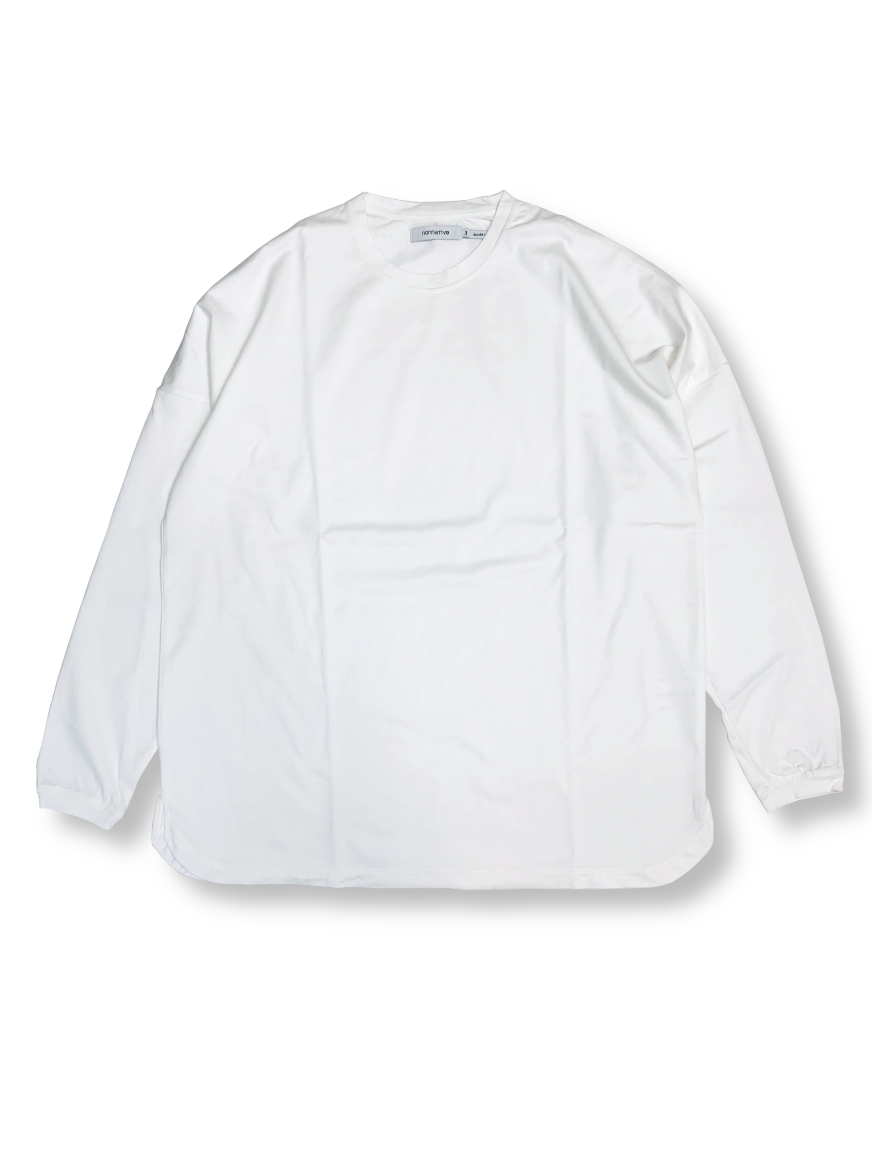 <img class='new_mark_img1' src='https://img.shop-pro.jp/img/new/icons50.gif' style='border:none;display:inline;margin:0px;padding:0px;width:auto;' />nonnative - CLERK L/S TEE COTTON JERSEY (WHITE)