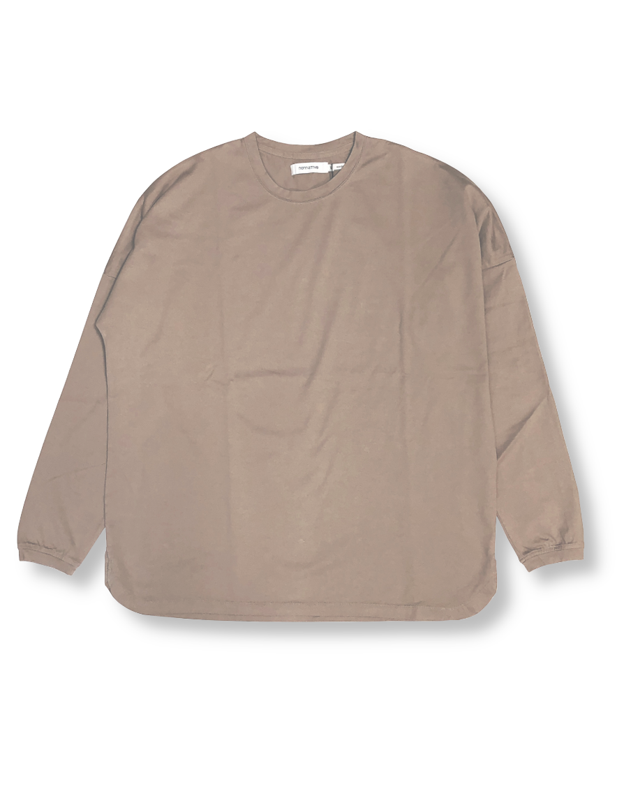 <img class='new_mark_img1' src='https://img.shop-pro.jp/img/new/icons50.gif' style='border:none;display:inline;margin:0px;padding:0px;width:auto;' />nonnative - CLERK L/S TEE COTTON JERSEY (MOLE)