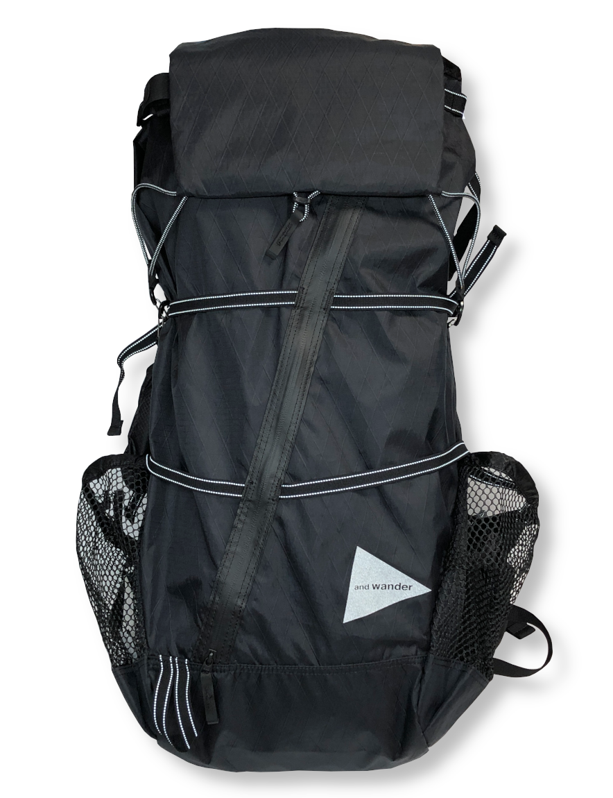 <img class='new_mark_img1' src='https://img.shop-pro.jp/img/new/icons1.gif' style='border:none;display:inline;margin:0px;padding:0px;width:auto;' />and wander - X-Pac 45L backpack (BLACK)