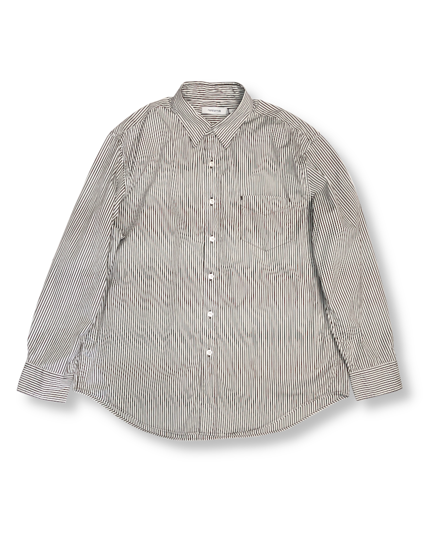 <img class='new_mark_img1' src='https://img.shop-pro.jp/img/new/icons1.gif' style='border:none;display:inline;margin:0px;padding:0px;width:auto;' />nonnative - DWELLER B.D. SHIRT RELAXED FIT COTTON BROAD LONDON STRIPE (BROWN)