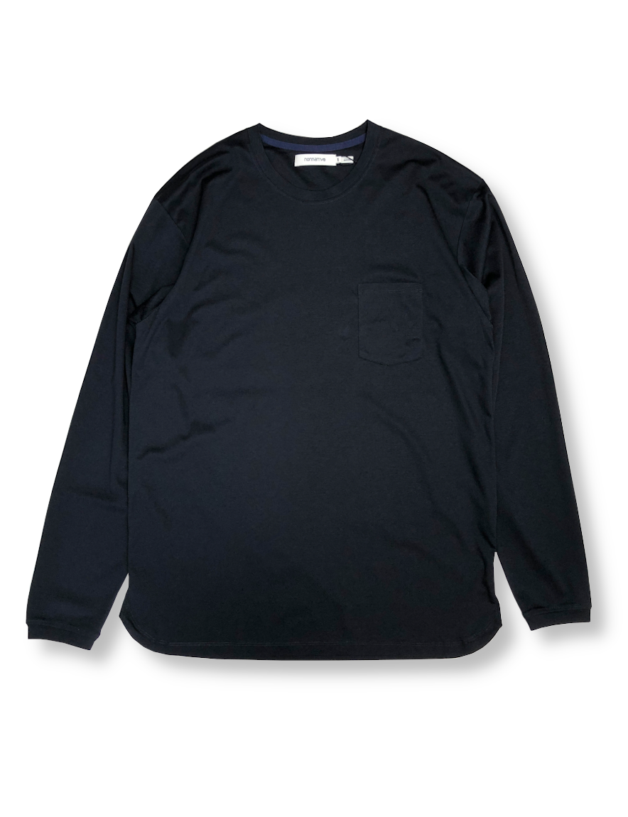 <img class='new_mark_img1' src='https://img.shop-pro.jp/img/new/icons1.gif' style='border:none;display:inline;margin:0px;padding:0px;width:auto;' />nonnative - DWELLER L/S TEE COTTON JERSEY (NAVY)