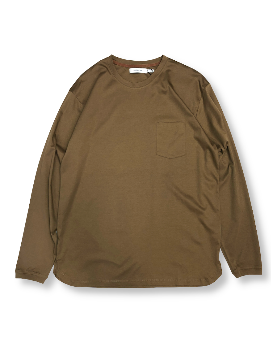 <img class='new_mark_img1' src='https://img.shop-pro.jp/img/new/icons1.gif' style='border:none;display:inline;margin:0px;padding:0px;width:auto;' />nonnative - DWELLER L/S TEE COTTON JERSEY (BEIGE)